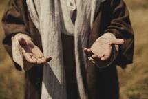 The open hands of Jesus